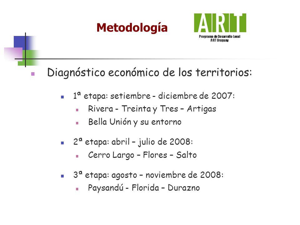 Diagnóstico económico de los territorios: 1ª etapa: setiembre - diciembre de 2007: Rivera - Treinta y Tres – Artigas Bella Unión y su entorno 2ª etapa