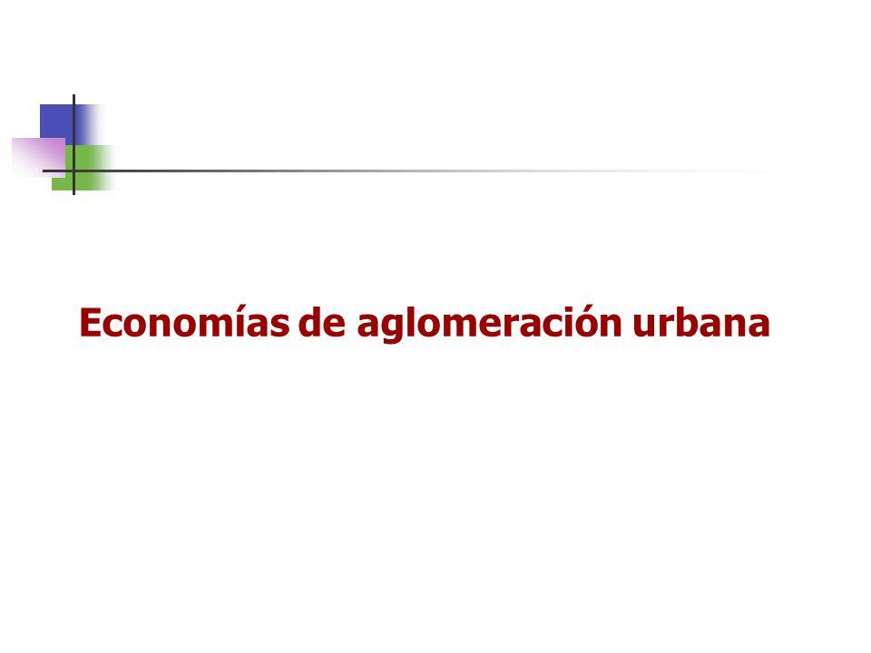 Economías de aglomeración urbana