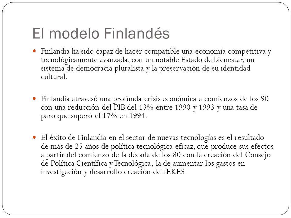 El modelo Finlandés Finlandia ha sido capaz de hacer compatible una economía competitiva y tecnológicamente avanzada, con un notable Estado de bienest