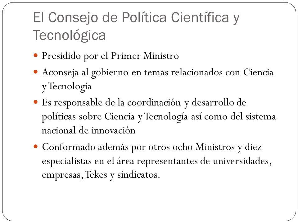 El Consejo de Política Científica y Tecnológica Presidido por el Primer Ministro Aconseja al gobierno en temas relacionados con Ciencia y Tecnología E