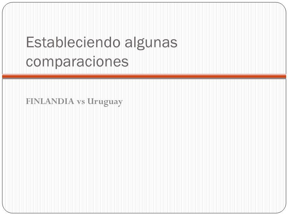 Estableciendo algunas comparaciones FINLANDIA vs Uruguay