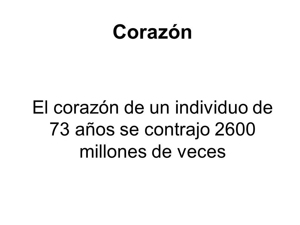 El corazón de un individuo de 73 años se contrajo 2600 millones de veces Corazón
