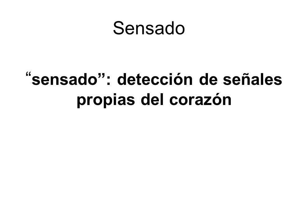 Sensado sensado: detección de señales propias del corazón