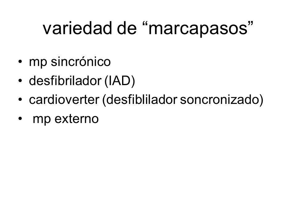 variedad de marcapasos mp sincrónico desfibrilador (IAD) cardioverter (desfiblilador soncronizado) mp externo