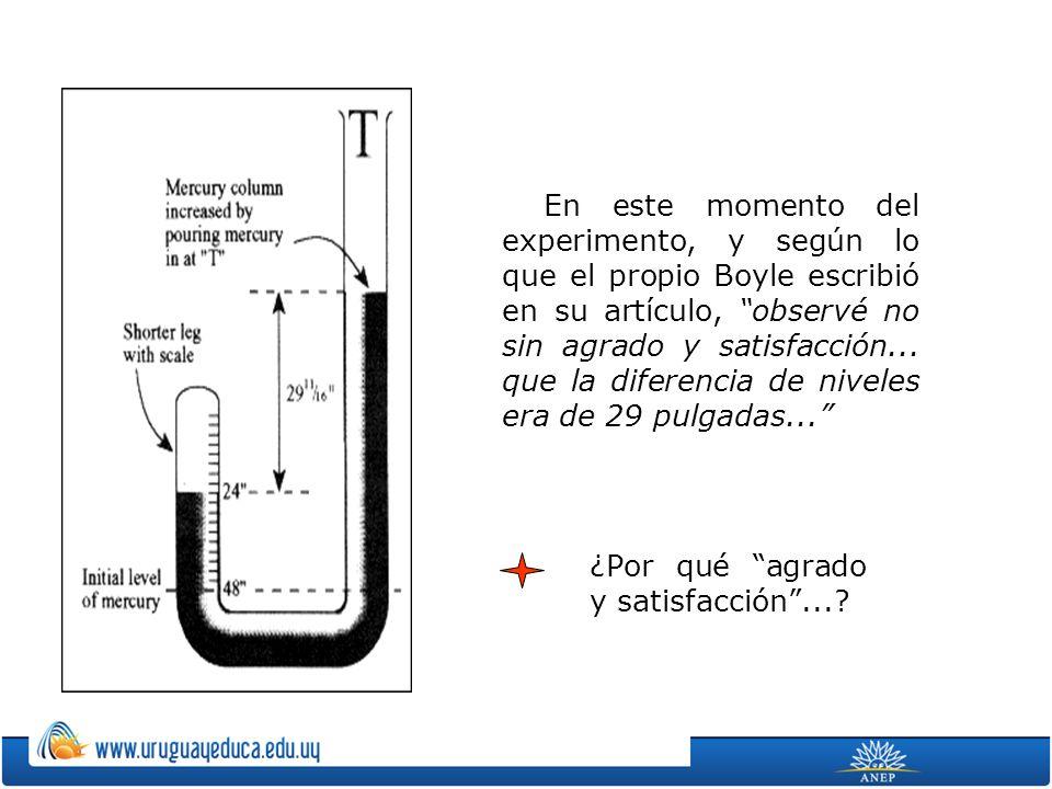 En este momento del experimento, y según lo que el propio Boyle escribió en su artículo, observé no sin agrado y satisfacción...