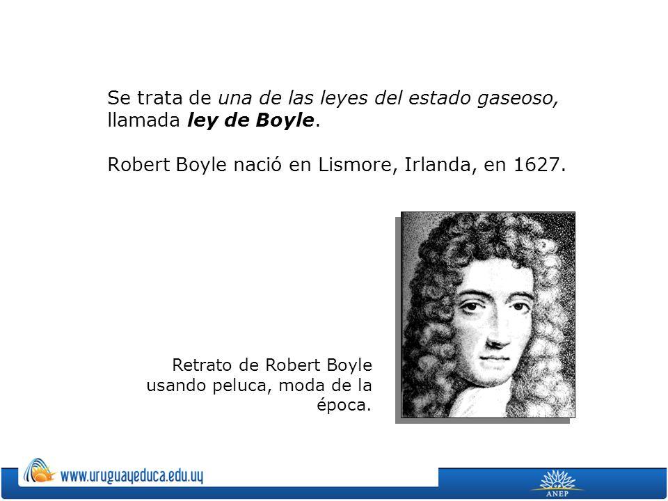 Retrato de Robert Boyle usando peluca, moda de la época.