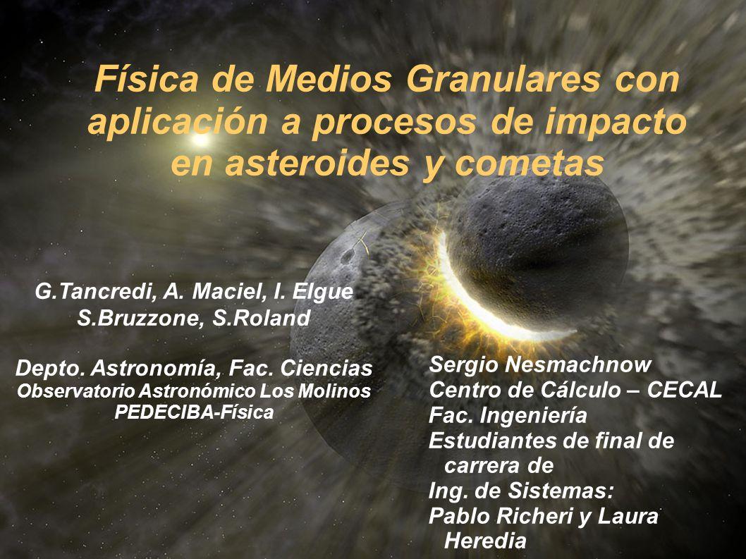 G.Tancredi, A. Maciel, I. Elgue S.Bruzzone, S.Roland Depto. Astronomía, Fac. Ciencias Observatorio Astronómico Los Molinos PEDECIBA-Física Física de M