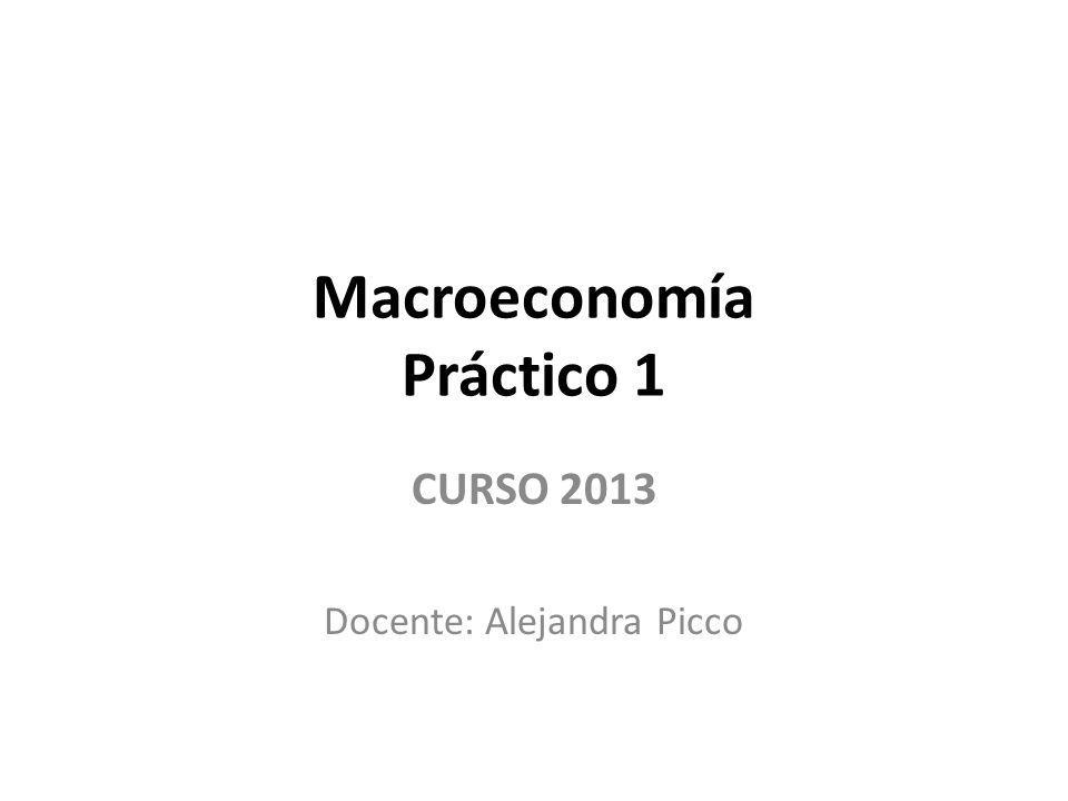 Macroeconomía Práctico 1 CURSO 2013 Docente: Alejandra Picco