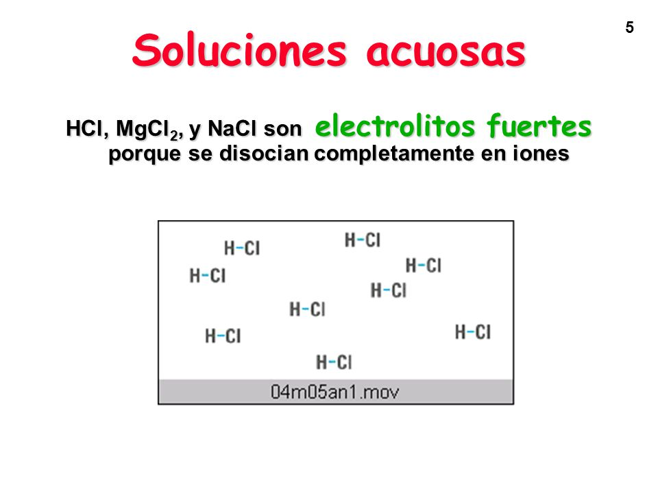 6 El ácido acético sólo se disocia en una proporción pequeña, por eso es un electrolito débil.