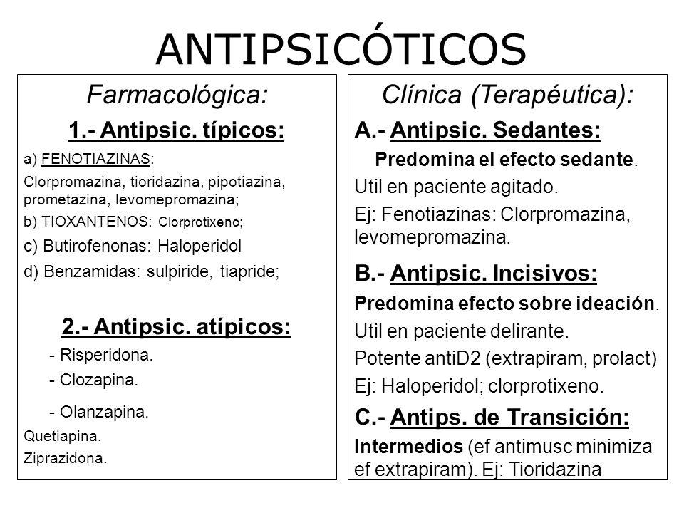 Farmacológica: 1.- Antipsic.