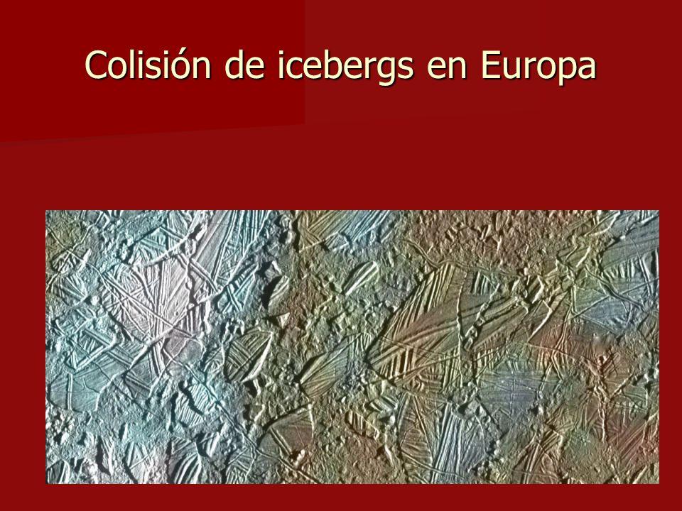 Colisión de icebergs en Europa
