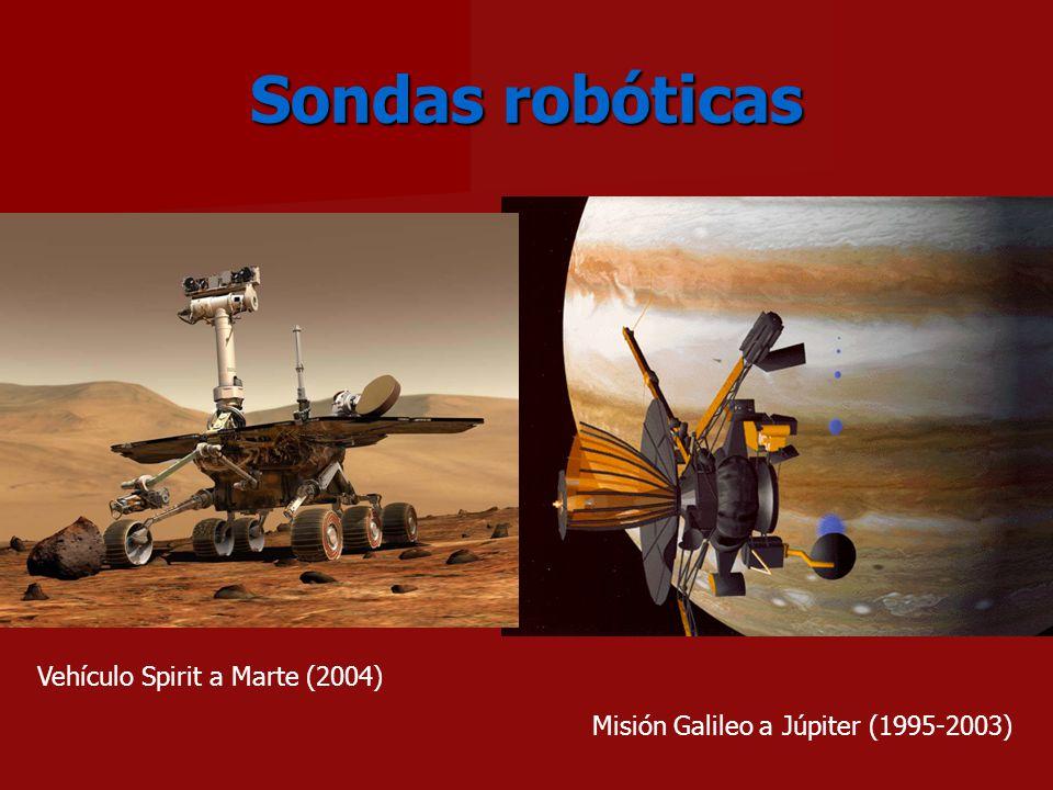 Sondas robóticas Misión Galileo a Júpiter (1995-2003) Vehículo Spirit a Marte (2004)