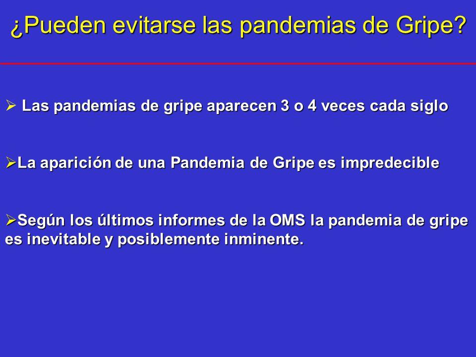 ¿Pueden evitarse las pandemias de Gripe.