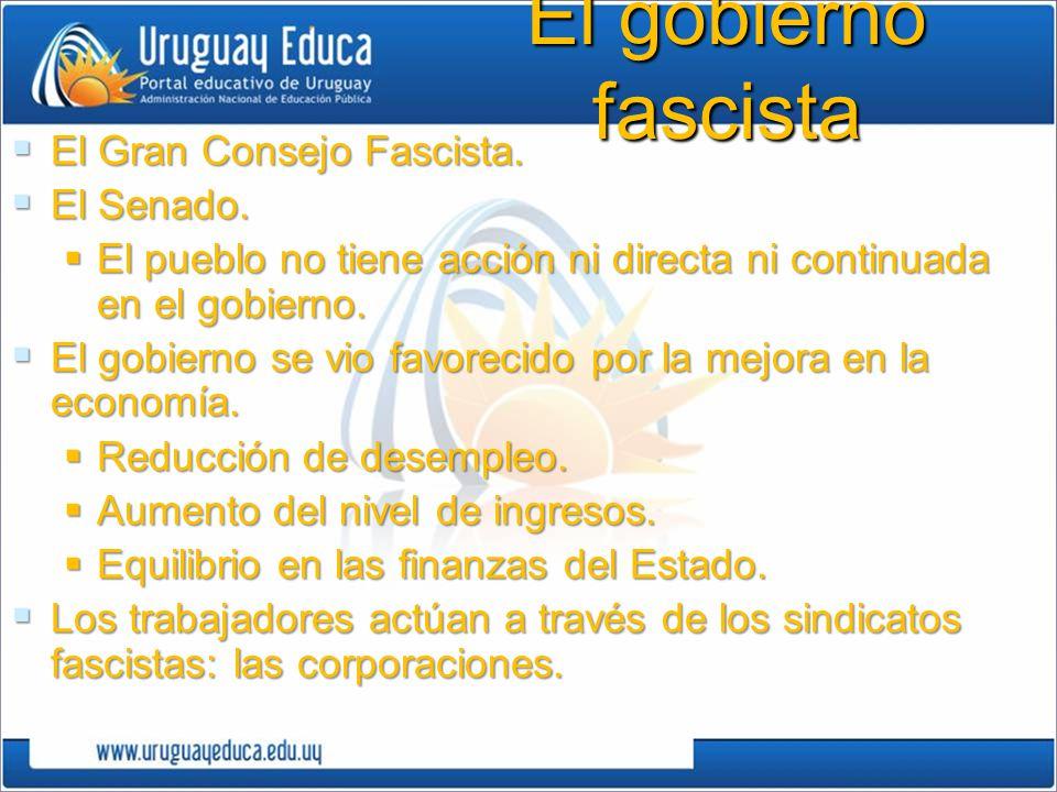 El gobierno fascista El Gran Consejo Fascista.El Gran Consejo Fascista.