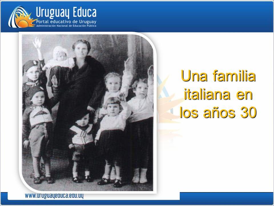 Una familia italiana en los años 30