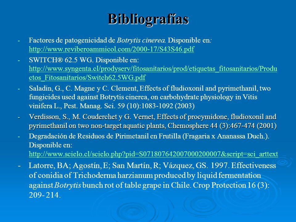 - - Factores de patogenicidad de Botrytis cinerea. Disponible en: http://www.reviberoammicol.com/2000-17/S43S46.pdf http://www.reviberoammicol.com/200