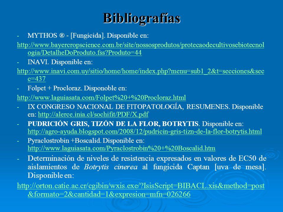 - - MYTHOS ® - [Fungicida]. Disponible en: http://www.bayercropscience.com.br/site/nossosprodutos/protecaodecultivosebiotecnol ogia/DetalheDoProduto.f