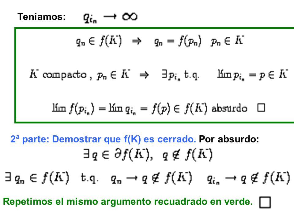 1.Si f es uniformemente continua en D entonces es uniformemente continua en cualquier subconjunto de D.