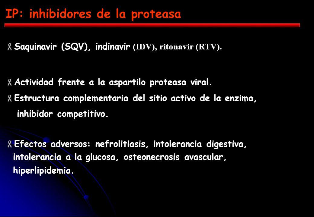 ITI - análogos nucleósidos Zidovudina (AZT), didanosina (ddI), lamivudina (3TC). Para ser activos necesitan ser trifosforilados por quinasa intracelul