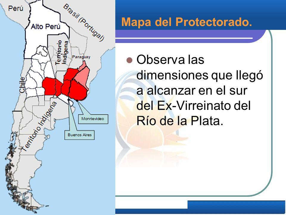 Mapa del Protectorado.