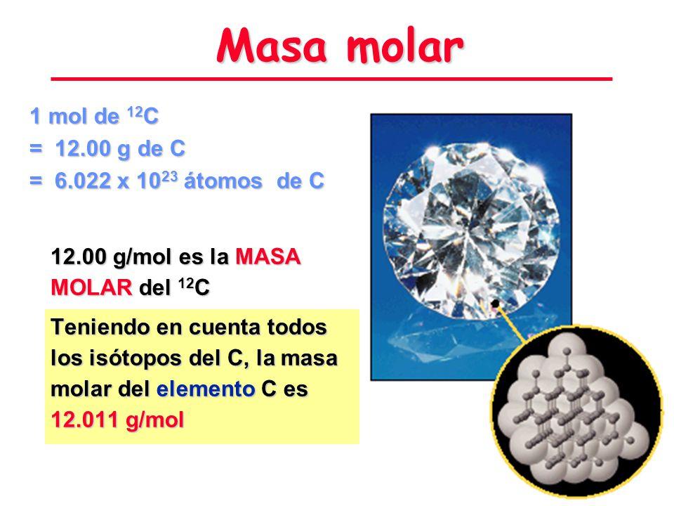 Partículas en un Mol 6.02214199 x 10 23 Número de Avogadro Hay un número de Avogadro de partículas en un mol de cualquier sustancia. Amadeo Avogadro 1