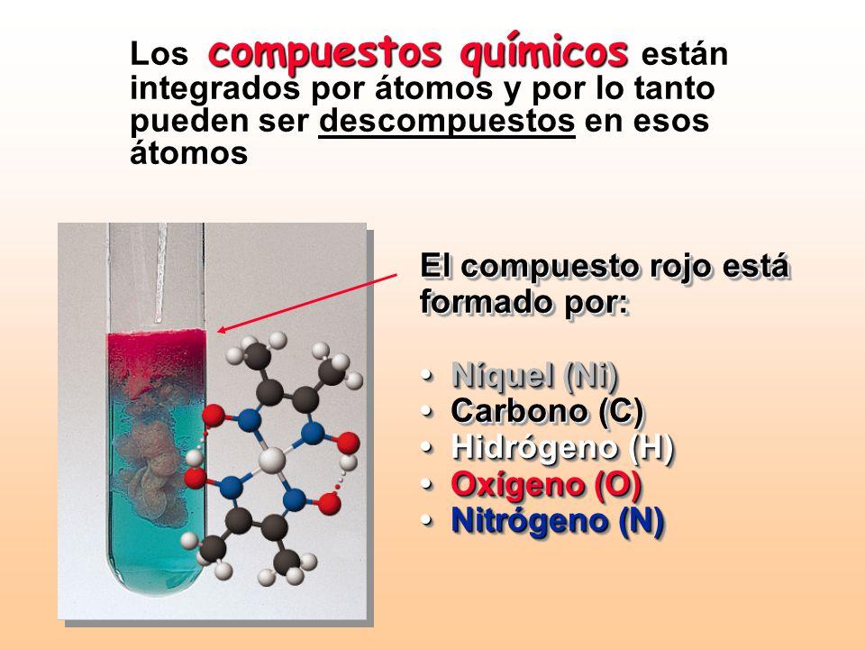 Átomos y elementos: La naturaleza de la materia La química se ocupa de la naturaleza de la materia y cómo ésta se relaciona con los átomos que la cons