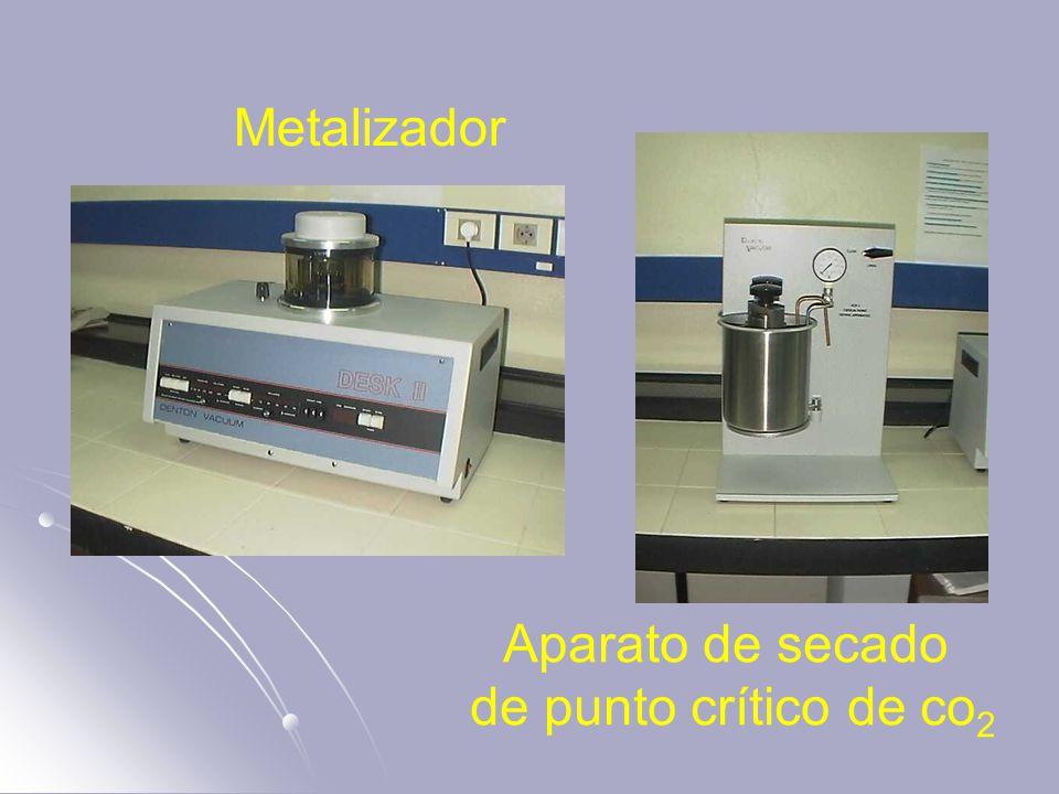 Aparato de secado de punto crítico de co 2 Metalizador