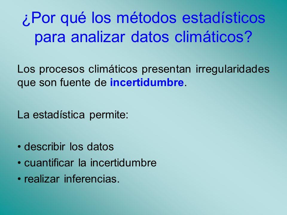 ¿Por qué los métodos estadísticos para analizar datos climáticos.