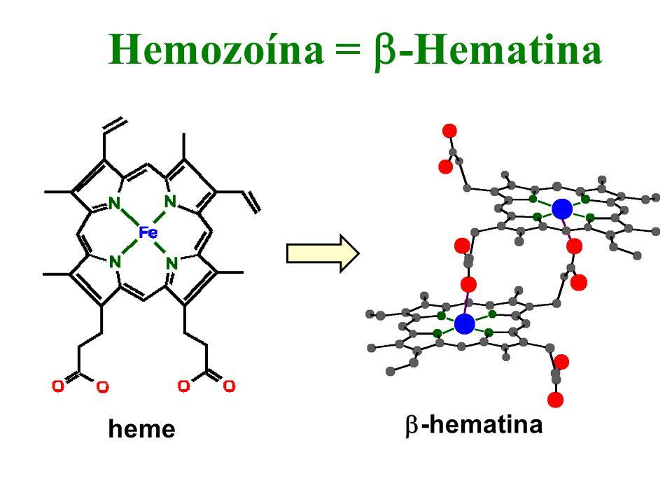 Hemozoína = -Hematina heme -hematina