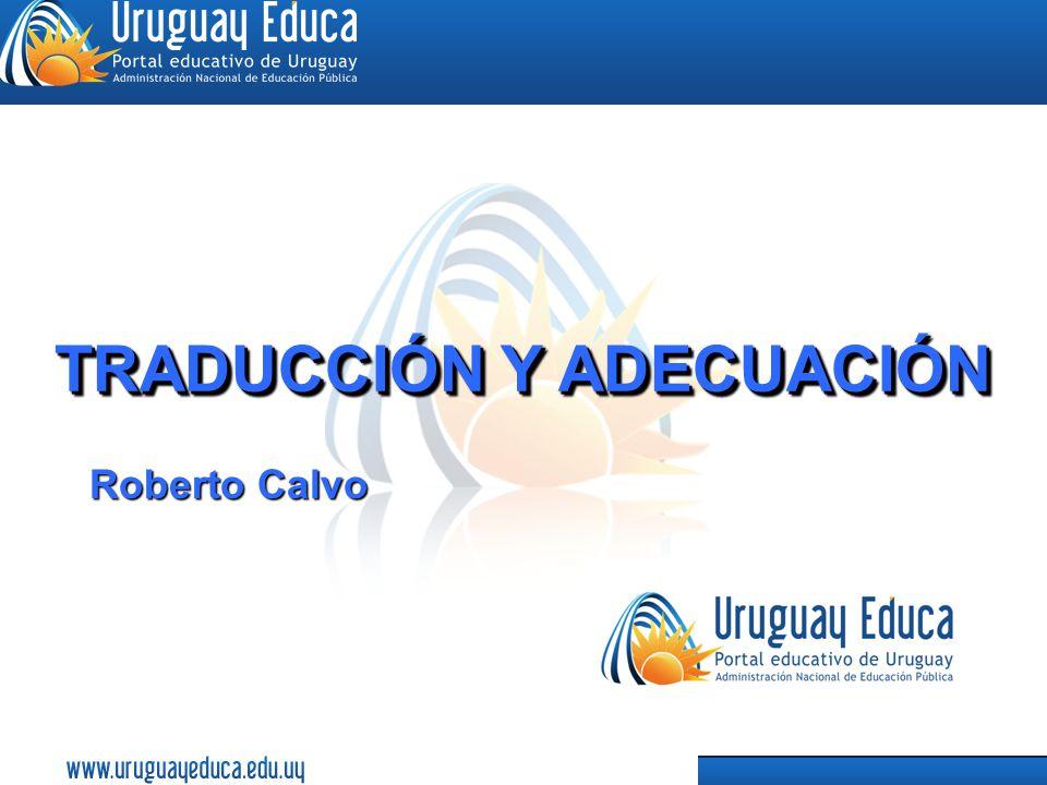 16 TRADUCCIÓN Y ADECUACIÓN Roberto Calvo