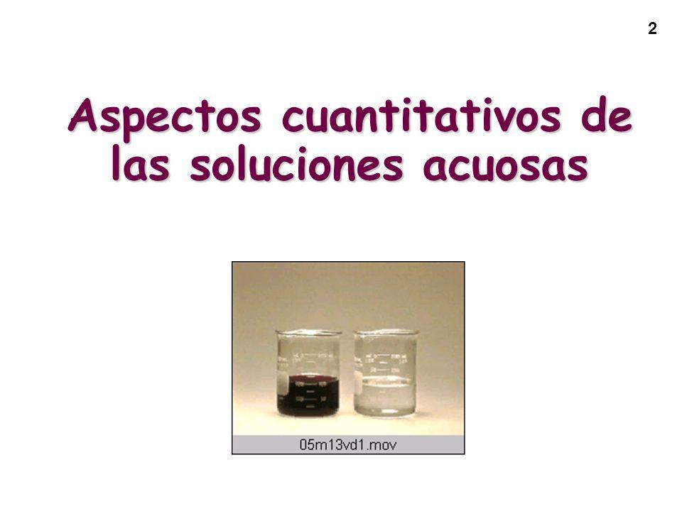 2 Aspectos cuantitativos de las soluciones acuosas