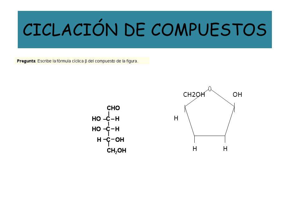 CICLACIÓN DE COMPUESTOS OH HH H CH2OH
