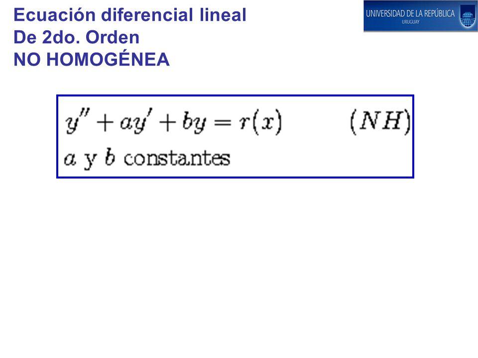 Ecuación diferencial lineal De 2do. Orden NO HOMOGÉNEA