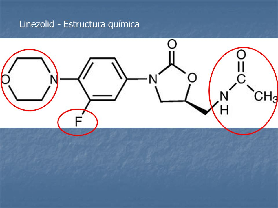 Linezolid - Estructura química