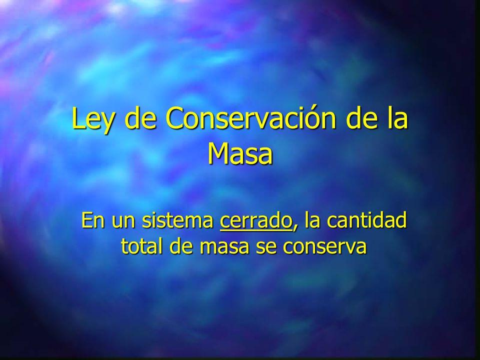 LEYES FISICAS h Ley de Conservación de la Masa h Ley de Conservación de la Energía h Leyes de Conservación del Momento Lineal h Ley de Conservación de