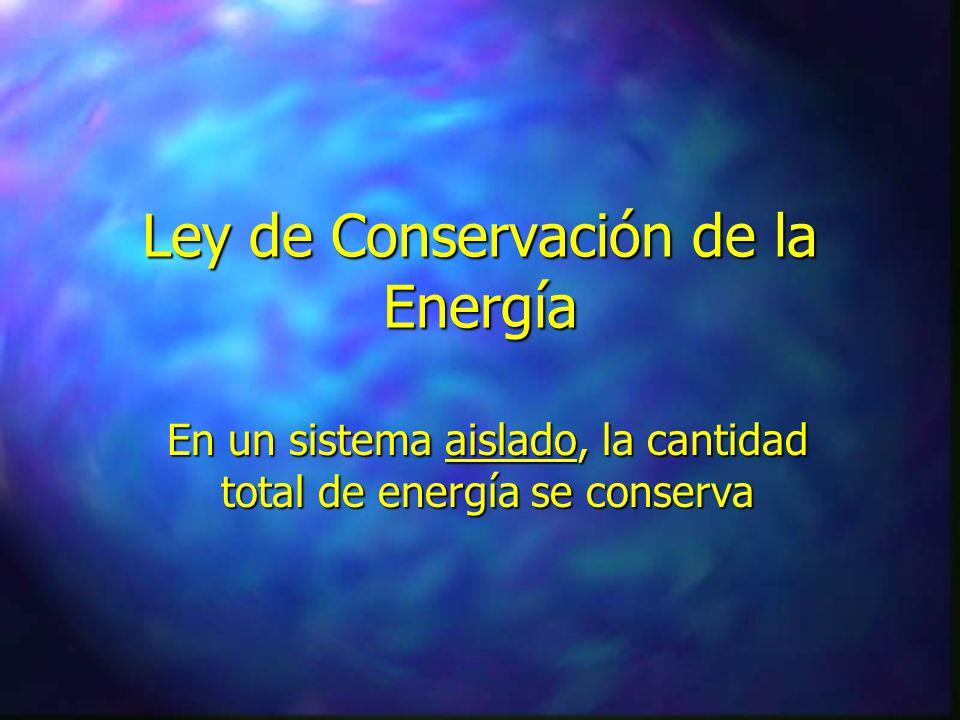 Ley de Conservación de la Masa En un sistema cerrado, la cantidad total de masa se conserva