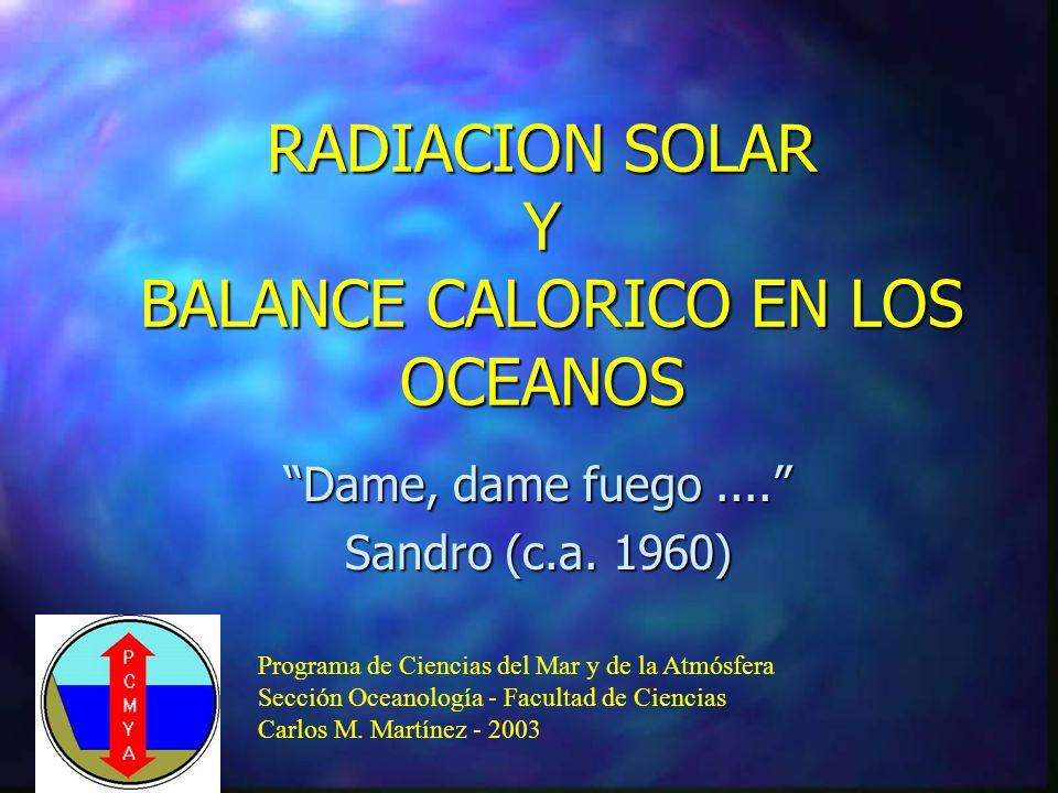 Tipos de movimientos l Circulación termohalina l Movimientos generados por el viento l Ondas y Corrientes de marea l Tsunamis u ondas sísmicas l Movimientos turbulentos l l Ondas internas, ondas gravitacionales- giroscópicas, ondas de Rossby o planetarias