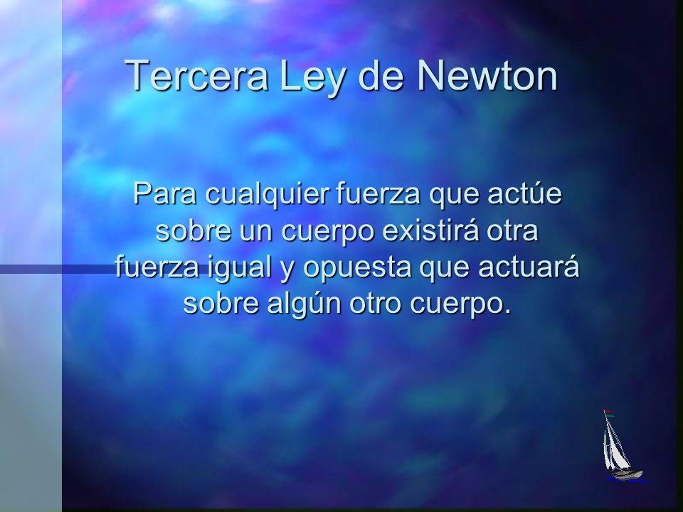 Segunda Ley de Newton La velocidad de cambio del movimiento de un cuerpo es directamente proporcional a la fuerza resultante que actúa sobre el mismo