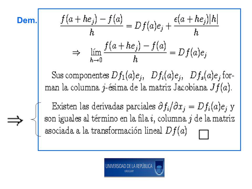 OBSERVACIONES: 1.Por el teorema anterior: 2. pues