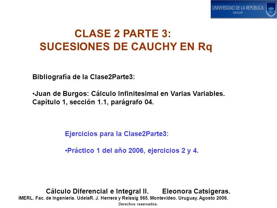 Bibliografía de la Clase2Parte3: Juan de Burgos: Cálculo Infinitesimal en Varias Variables. Capítulo 1, sección 1.1, parágrafo 04. Ejercicios para la