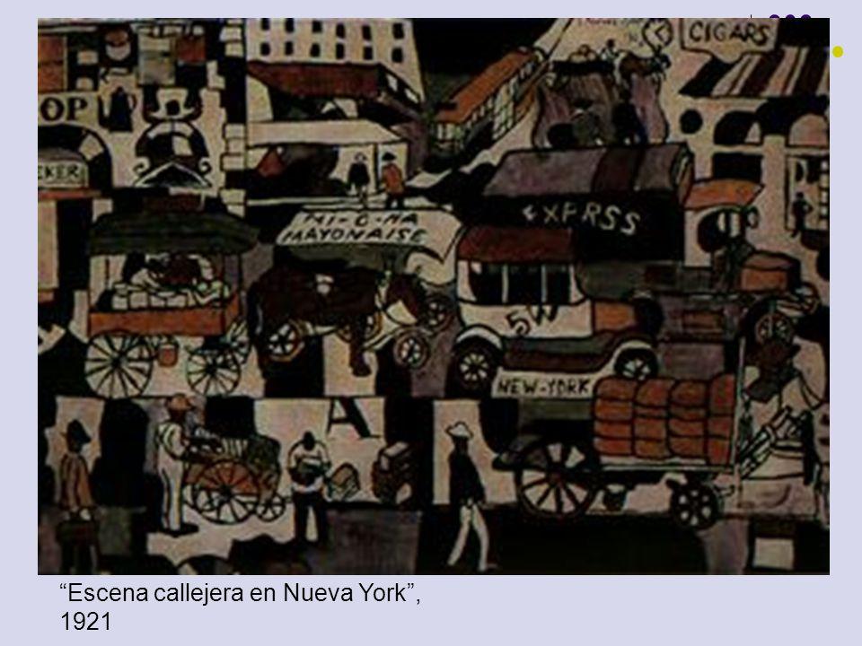 Escena callejera en Nueva York, 1921