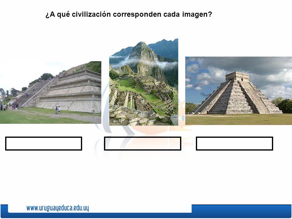 ¿A qué civilización corresponden cada imagen?