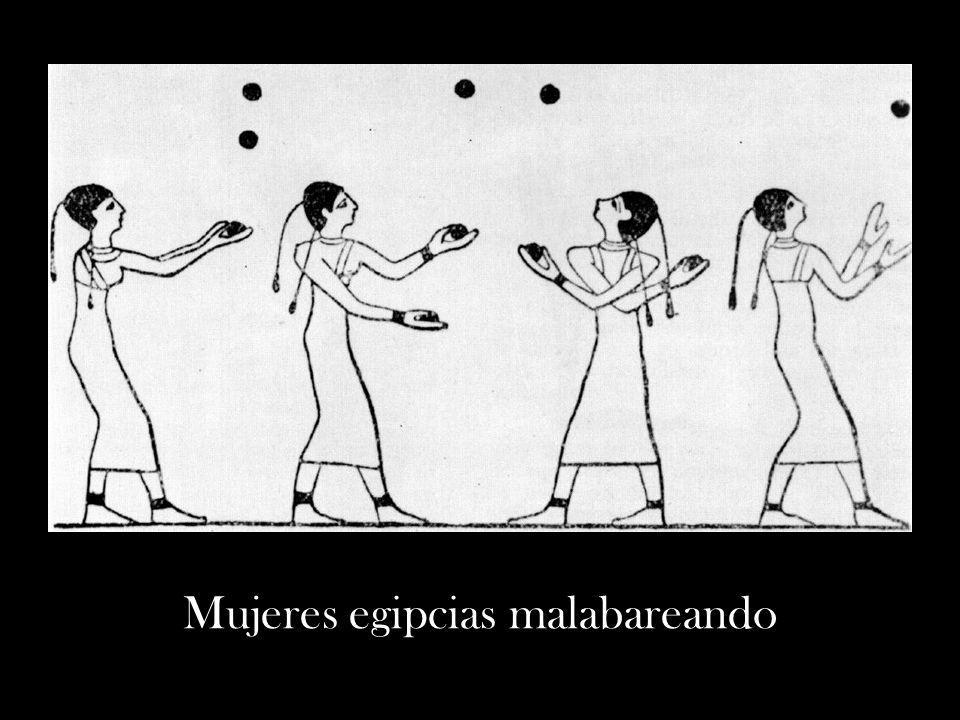Mujeres egipcias malabareando