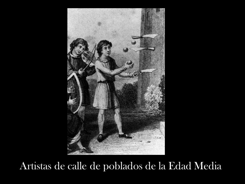 Artistas de calle de poblados de la Edad Media