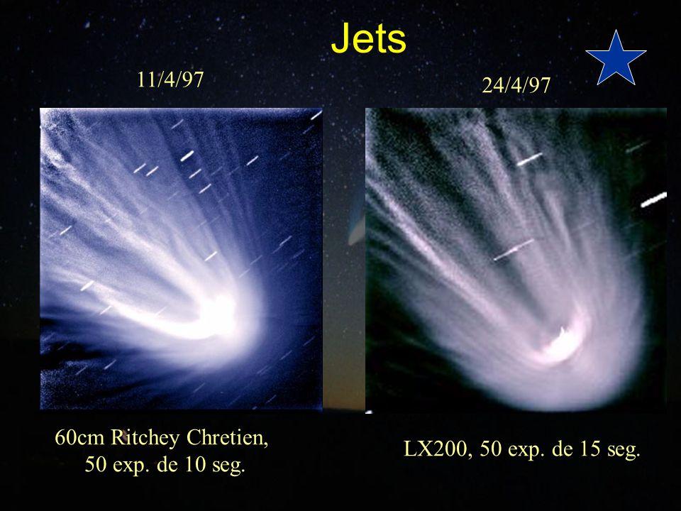 Jets 11/4/97 24/4/97 LX200, 50 exp. de 15 seg. 60cm Ritchey Chretien, 50 exp. de 10 seg.