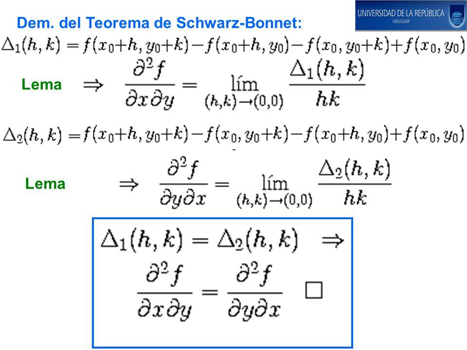 Dem. del Teorema de Schwarz-Bonnet: Lema