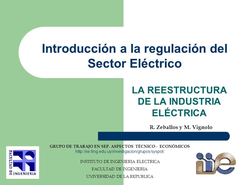 LA INDUSTRIA ELÉCTRICA EN EL URUGUAY LA INDUSTRIA ELÉCTRICA ANTES DE LA LEY 16.832 TRASMISIÓN GENERACIÓN DISTRIBUCIÓN UTE: EMPRESA VERTICALMENTE INTEGRADA USUARIOS SALTO GRANDE SALTO GRANDE GENERACIÓ N DE LA REGIÓN GENERACIÓ N DE LA REGIÓN