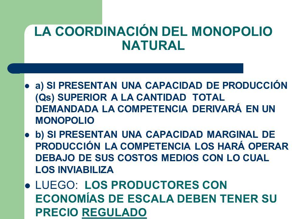 LA COORDINACIÓN DEL MONOPOLIO NATURAL 1er.