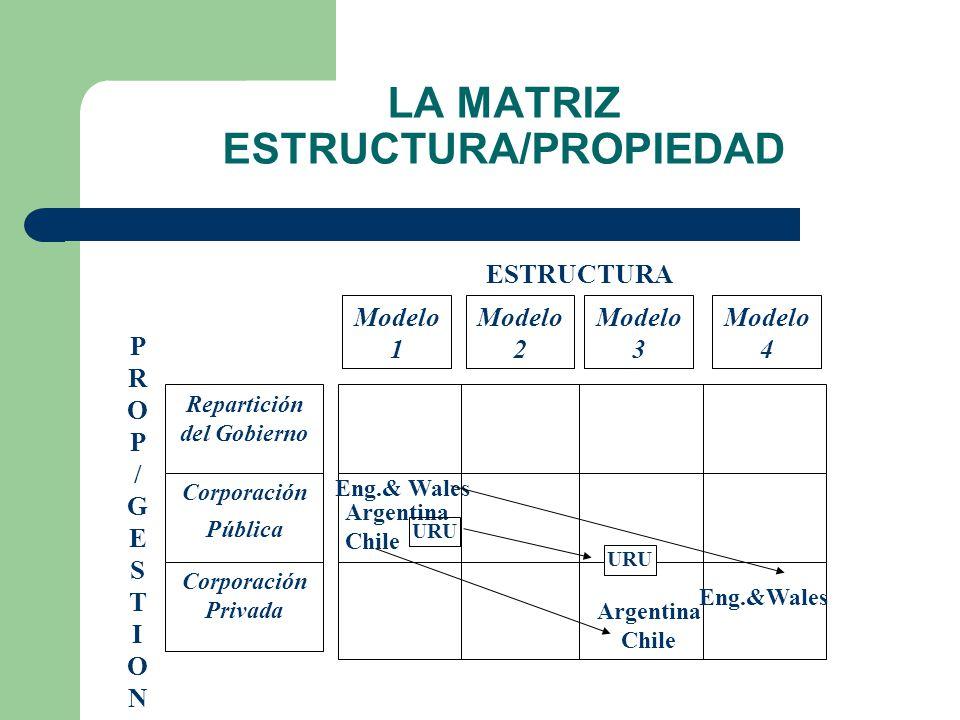 DINÁMICA ACTUAL DE LAS ESTRUCTURAS DE LA INDUSTRIA ESTRUCTURA – 1) NO EXISTE COMPETENCIA – 2) COMPETENCIA EN GENERACIÓN SOLAMENTE – 3)COMPETENCIA EN GENERACIÓN Y MAS DE UN AGENTE DEMANDANTE INDEPENDIENTE LIMITADO POR LA ESCALA DISPUESTA POR EL REGULADOR.