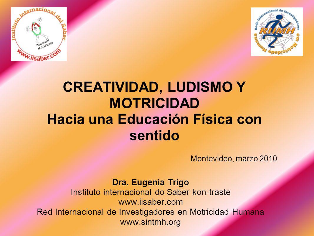 Dra. Eugenia Trigo Instituto internacional do Saber kon-traste www.iisaber.com Red Internacional de Investigadores en Motricidad Humana www.sintmh.org